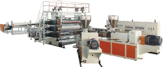 PP+Wood,PP+Bast fiber Board Extrusion Machine